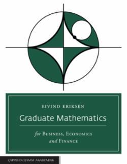 Graduate mathematics : for business, economics and finance